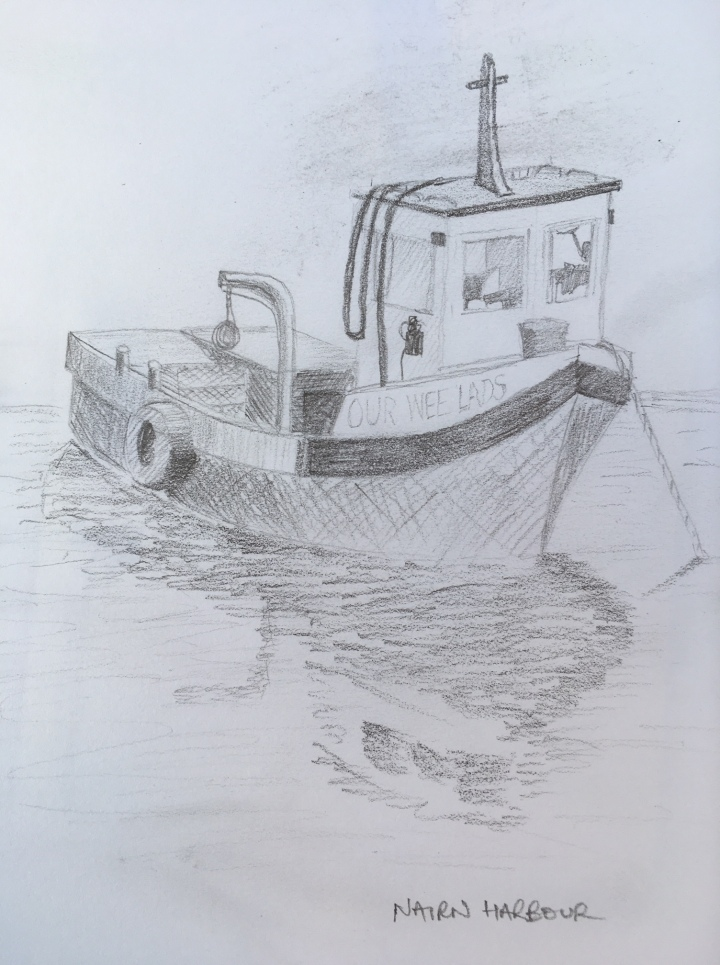 Nairn Harbour Fishing Boat